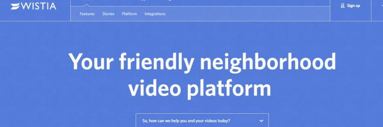 wistia website screenshot