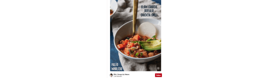 An example of an image optimized for Pinterest marketing