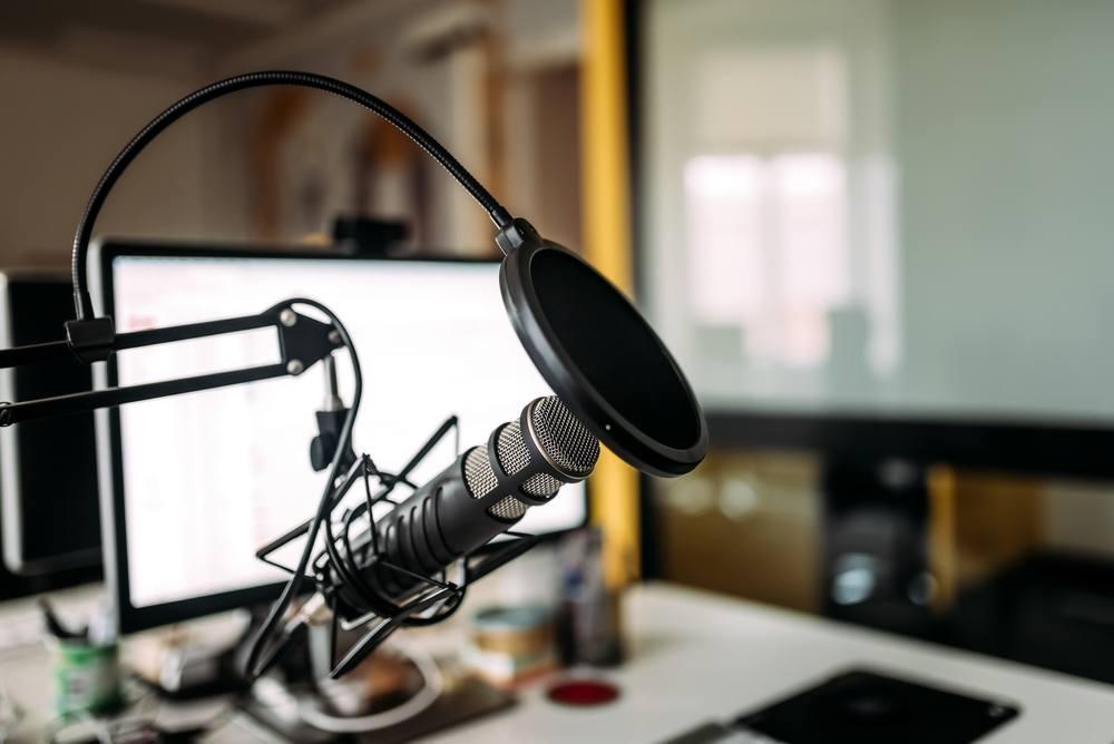 podcast recording setup