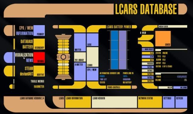 LCARS voice search computer operating system from Star Trek