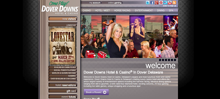 Dover Downs Casino website
