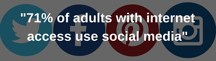 71% of adults use social media